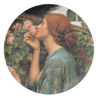 Waterhouse: Olor de rosas Platos De Comidas