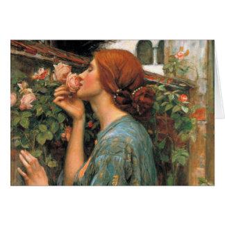 Waterhouse: Olor de rosas Tarjeta De Felicitación