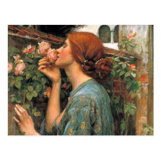 Waterhouse: Olor de rosas Tarjetas Postales