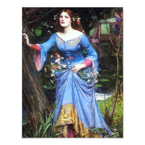 Waterhouse Ophelia Invitations