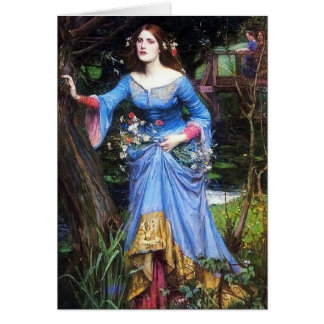Waterhouse Ophelia Stationery Note Card