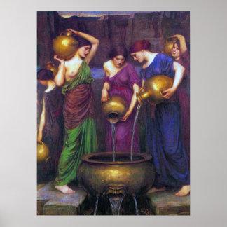 Waterhouse Painting The Danaïdes Poster