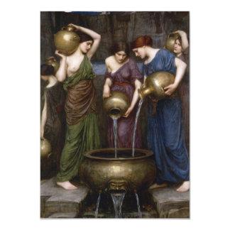 Waterhouse Pre-Raphaelite Painting Danaides Card