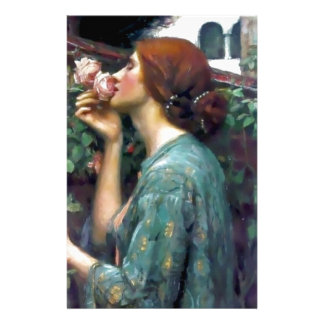 Waterhouse Scented Rose painting Stationery Paper