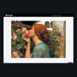 """Waterhouse: Smell of Roses 15&quot; Laptop Skins<br><div class=""""desc"""">A beautiful classic women laptop skin,  painted by the English painter John William Waterhouse.</div>"""