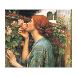 Waterhouse: Smell of Roses Gallery Wrapped Canvas