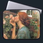 """Waterhouse: Smell of Roses Computer Sleeve<br><div class=""""desc"""">A beautiful classic women laptop sleeve,  painted by the English painter John William Waterhouse.</div>"""