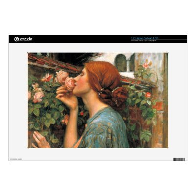 """Waterhouse: Smell of Roses Decal For 15"""" Laptop"""