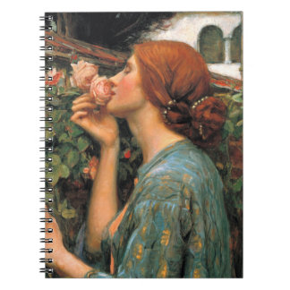 Waterhouse: Smell of Roses Spiral Notebook