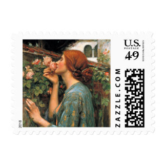Waterhouse: Smell of Roses Stamp