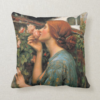 Waterhouse: Smell of Roses Throw Pillow