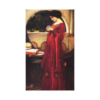 Waterhouse The Crystal Ball Canvas Print