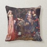 Waterhouse: The Enchanted Garden Throw Pillow