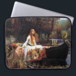 "Waterhouse The Lady of Shalott Laptop Sleeve<br><div class=""desc"">John William Waterhouse The Lady of Shalott laptop sleeve. Oil painting on canvas from 1888. The Lady of Shalott is a beautiful Pre-Raphaelite painting of a scene from Alfred Lord Tennyson's poem of the same name. The painting depicts the doomed Lady of Shalott sailing towards Camelot in a small boat...</div>"