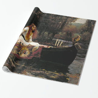 Waterhouse The Lady Of Shalott Vintage Fine Art Wrapping Paper