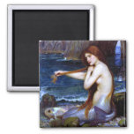 Waterhouse: The Mermaid 2 Inch Square Magnet