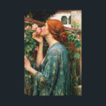 """Waterhouse The Soul of the Rose Canvas Print<br><div class=""""desc"""">John William Waterhouse The Soul of the Rose canvas print. Oil painting on canvas from 1908. English painter John Waterhouse found inspiration in mythical and literary themes. The Soul of the Rose is inspired by the Alfred Lord Tennyson poem by the same name, and features a young redhead in a...</div>"""