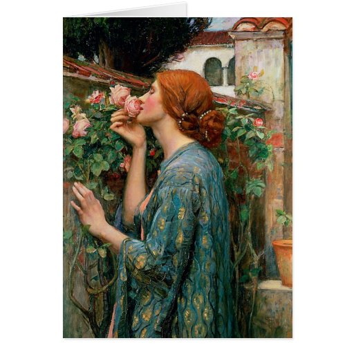 Waterhouse The Soul of the Rose Note Card