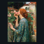 "Waterhouse The Soul of the Rose Print<br><div class=""desc"">John William Waterhouse The Soul of the Rose print. Oil painting on canvas from 1908. English painter John Waterhouse found inspiration in mythical and literary themes. The Soul of the Rose is inspired by the Alfred Lord Tennyson poem by the same name, and features a young redhead in a blue...</div>"