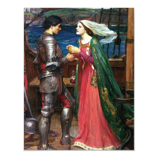 Waterhouse Tristan and Isolde Invitations