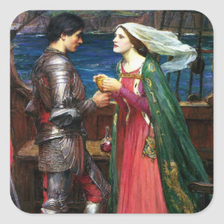 Waterhouse Tristan and Isolde Stickers