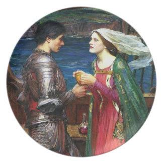 Waterhouse Tristan y placa de Isolda Plato