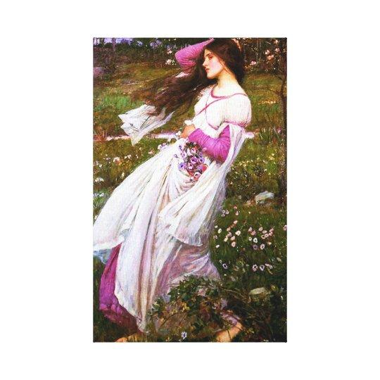 Waterhouse Windflowers Canvas Print