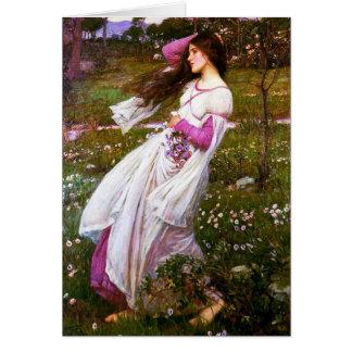 Waterhouse Windflowers Greeting Card