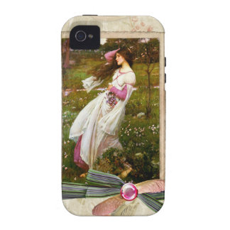 Waterhouse Windflowers Collage iPhone 4/4S Cases