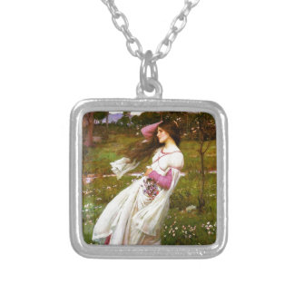 Waterhouse Windflowers Collage Silver Plated Necklace