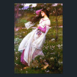"Waterhouse Windflowers Print<br><div class=""desc"">John William Waterhouse Windflowers print. Oil painting on canvas from 1902. Pre-Raphaelite John William Waterhouse frequently painted literary themes, and Windflowers is a beautiful example of the artist's lifelong fascination with poetic heroines. The painting features a young woman with dark black hair standing in a field of wild flowers as...</div>"