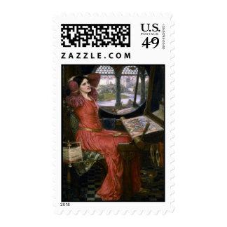 Waterhouse's Lady of Shalott Stamp