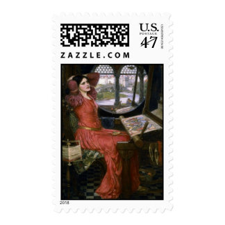 Waterhouse's Lady of Shalott Postage Stamp