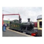 Watering A Locomotive Postcard