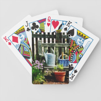 Watering Can and Blue Basket Bicycle Playing Cards