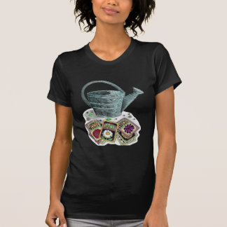 Watering Can and Seed Packets Design T-Shirt