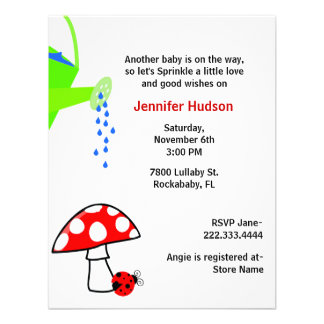 Watering Can Baby Sprinkle Shower Invitation