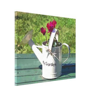 WATERING CAN wrappedcanvas