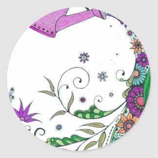watering can classic round sticker