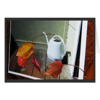 Watering Can / Dried Leaves Card