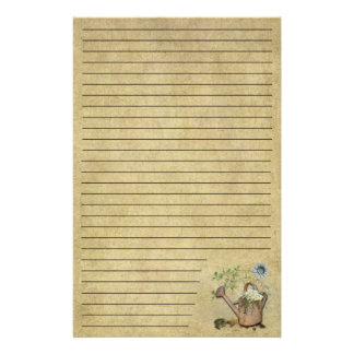 Watering Can & Garden Things- 5- Lined Stationery