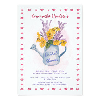Watering Can Shower Invitation