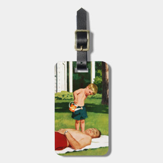 Watering Father Bag Tag