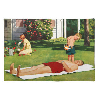 Watering Father Cloth Placemat