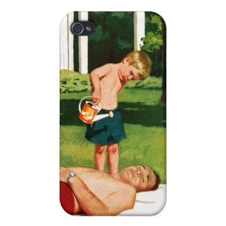 Watering Father iPhone 4 Covers