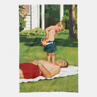 Watering Father Kitchen Towel