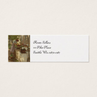 Watering Flowers from Well Mini Business Card