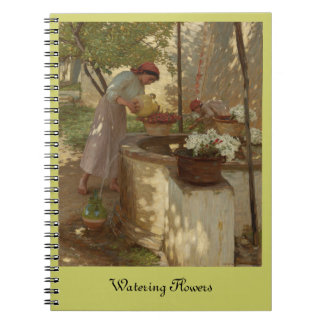 Watering Flowers from Well Notebook