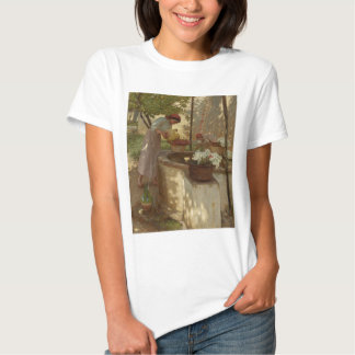 Watering Flowers from Well T-shirt
