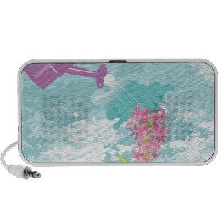 watering flowers mp3 speakers